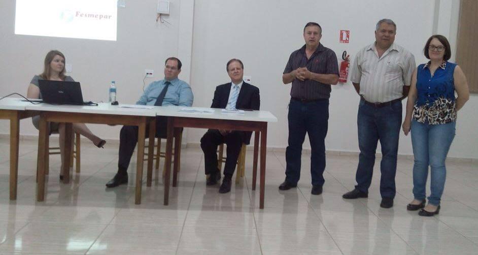 Servidores de Nova Prata do Iguaçu participam de palestra sobre assédio moral