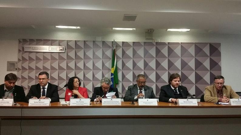 Fesmepar participa de audiência pública de negociação coletiva no Senado