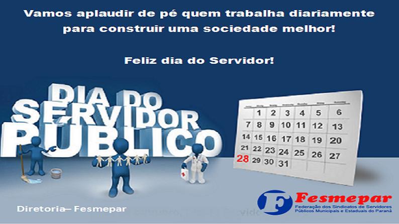Feliz dia do servidor público!