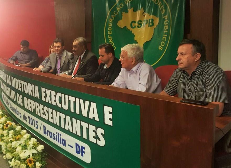 """Presidente da Fesmepar participa da """"Reunião da Diretoria Executiva e do Conselho de Representantes da CSPB"""" em Brasília"""