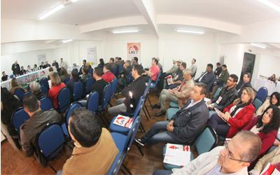 Diretoria da Fesmepar participa de plenária da UGT-Paraná na Região Oeste
