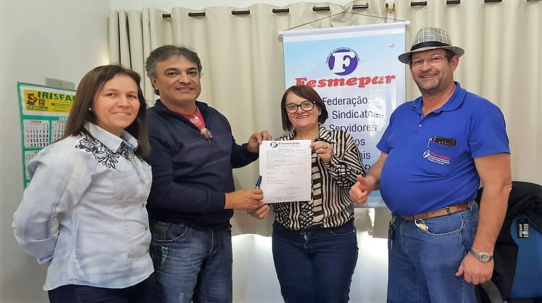 Sindicato dos Servidores de Icaraíma filia-se a Fesmepar