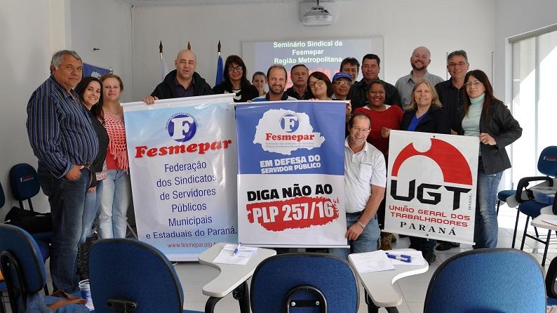 SEMINÁRIO SINDICAL: Último dia do Seminário Sindical da Fesmepar discute PLP 257 e PEC 241 com diretores sindicais da Região Metropolitana