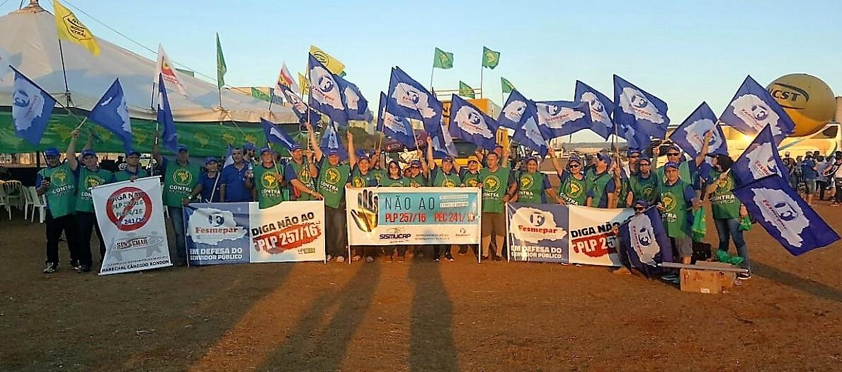 """Fesmepar marca presença no segundo dia da """"Jornada Nacional de Lutas em Defesa do Serviço Público"""""""