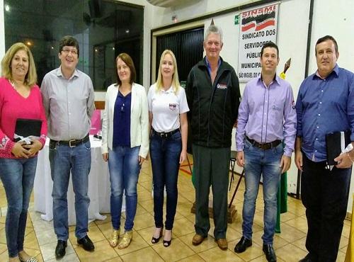 São Miguel do Iguaçu: Fesmepar participa da abertura da 4ª Semana de Formação Continuada realizada pelo SINSMI