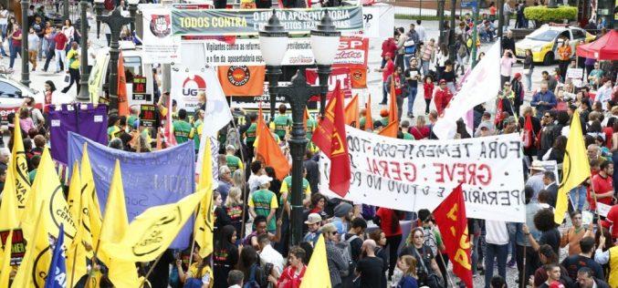 30 DE JUNHO: Fesmepar marca presença nos manifestos contra as reformas previdenciária e trabalhista