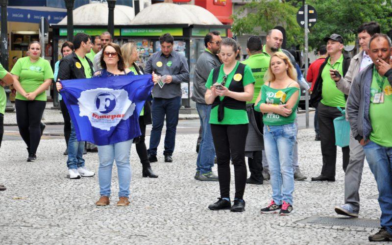Fesmepar participa de manifesto contra as reformas organizado pelo Fórum Sindical dos Trabalhadores