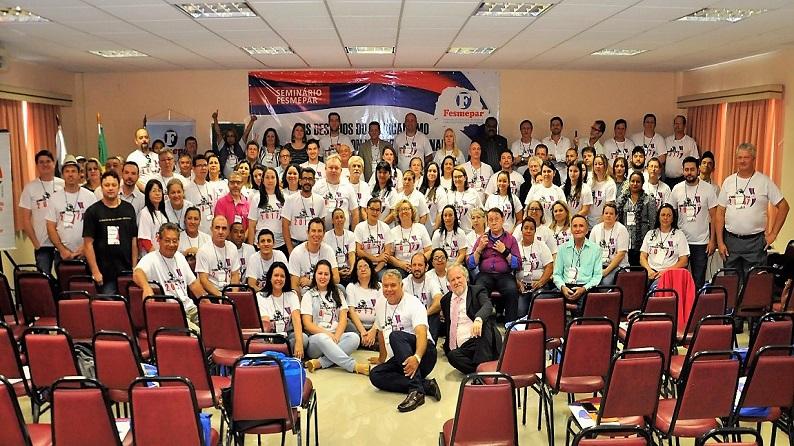 Fesmepar reúne mais de 150 lideres sindicais em seminário que debateu os rumos do sindicalismo brasileiro