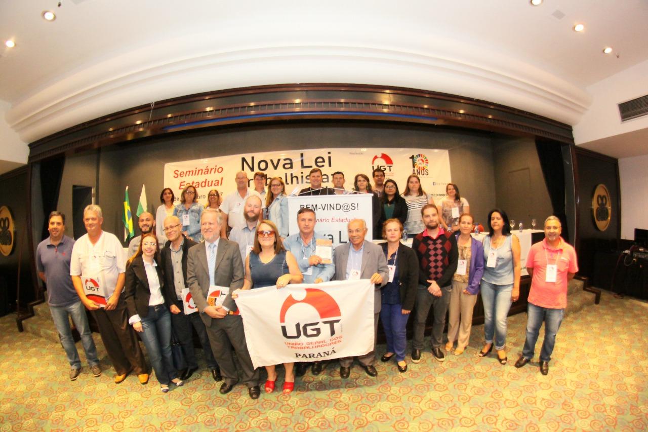 """Mais de 20 sindicatos filiados a Fesmepar participam do seminário """"Nova Lei Trabalhista: e agora?"""", realizado pela da UGT – Paraná"""