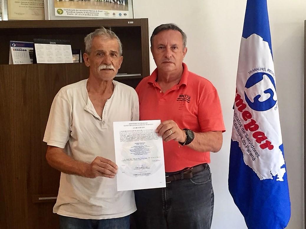 Sindicato de Servidores Municipais de Jataizinho recebe Certidão de Registro Sindical