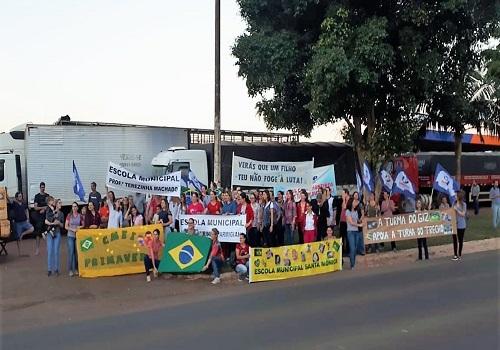 Fesmepar e sindicatos filiados participam de manifestos em apoio a greve nacional dos caminhoneiros