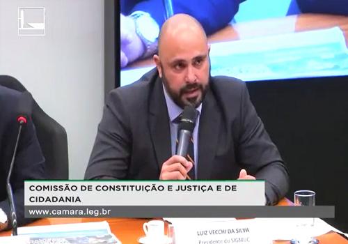 Presidente do Sigmuc discursa sobre o PL 5.488 na Comissão de Constituição e Justiça e de Cidadania