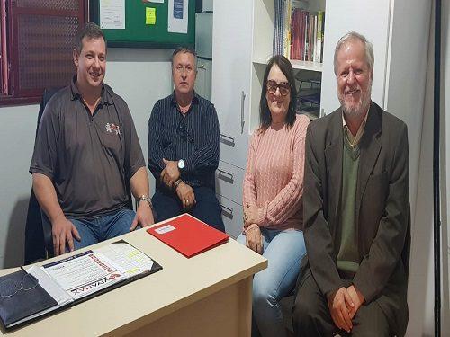 Diretores da Fesmepar fazem visita administrativa ao Sinsemar e Sindiper