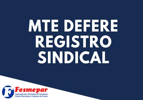 PALOTINA: Ministério do Trabalho concede o Registro Sindical ao SINDIPPA