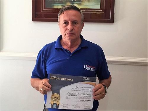 Presidente da Fesmepar é homenageado pelo FOZPREV