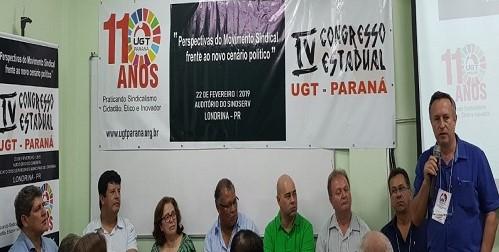 Fesmepar marca presença do 4º Congresso da UGT – Paraná
