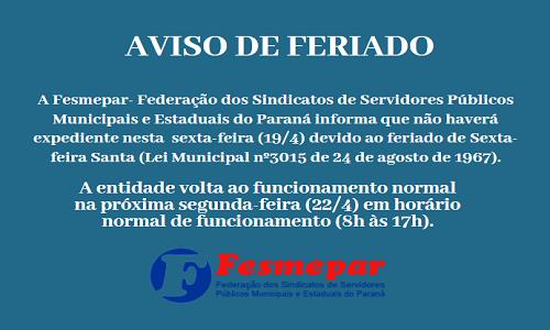 AVISO DE FERIADO