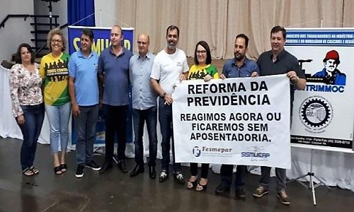 Capitão Leônidas Marques: Sismucap realiza palestra sobre a Reforma da Previdência