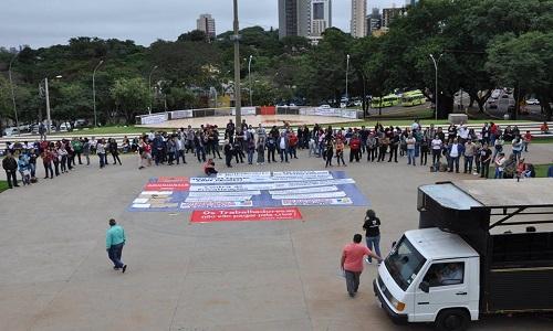 1º de MAIO: Sismufi marca presença em manifesto contra a Reforma da Previdência