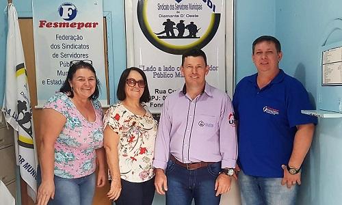 Servidores de Diamante D'Oeste reelegem a diretoria do SISMUDI