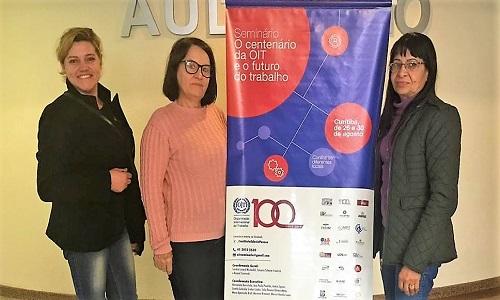 Fesmepar marca presença nas comemorações de 100 anos de atuação da OIT