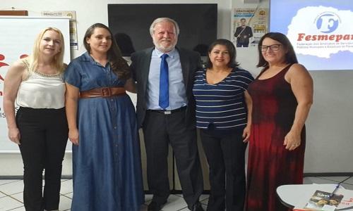 MEDIANEIRA: Com palestra ministrada pelo corpo jurídico, Fesmepar marca presença na Semana do Servidor do SINDISMED