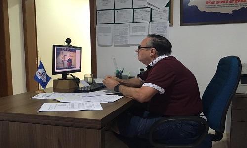 Fesmepar discute questões jurídicas da Lei 173/2020 em videoconferência com diretores e advogados dos sindicatos de servidores do Paraná