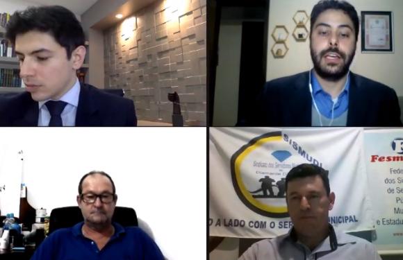DIAMANTE D'OESTE E CAFELÂNDIA: SISMUDI e SISMUCAF esclarecem os principais pontos da Lei 173/2020 em videoconferência voltada aos servidores municipais