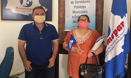 CANDÓI: Fesmepar recebe visita da presidente do SISPPMUCAN