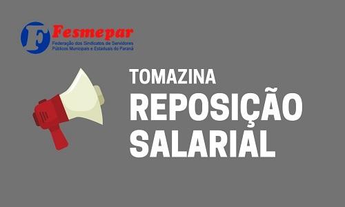 Sindserv Tomazina conquista reposição salarial aos servidores municipais