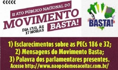 Fesmepar adere ao Movimento Basta!