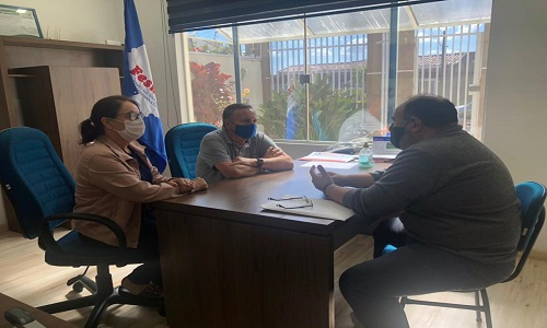 TEIXEIRA SOARES: Presidente da Fesmepar recebe visita de diretor do SINTEXS