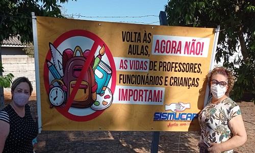 CAPITÃO LEÔNIDAS MARQUES: SISMUCAP defende volta às aulas somente com todos os professores vacinados