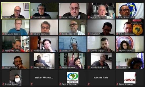 Fesmepar participa de reunião do Fórum das Centrais Sindicais para definição de agenda nacional de mobilização contra a PEC32