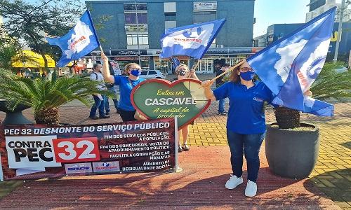 REFORMA ADMINISTRATIVA: Fesmepar e sindicatos filiados marcam presença no Dia Nacional de Mobilização Contra a PEC32