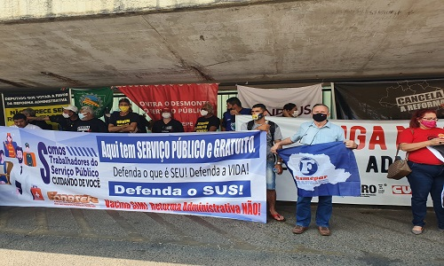 TODOS CONTRA A PEC32: FESMEPAR MARCA PRESENÇA NA LUTA EM DEFESA DO FUNCIONALISMO PÚBLICO