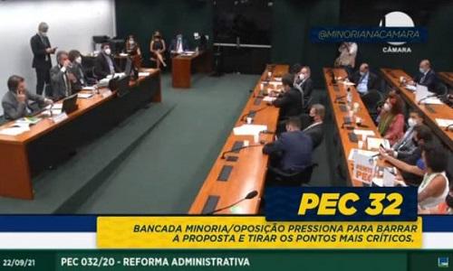 Votação da PEC 32 está suspensa após tentativas de aprovar relatório sem análise da Comissão