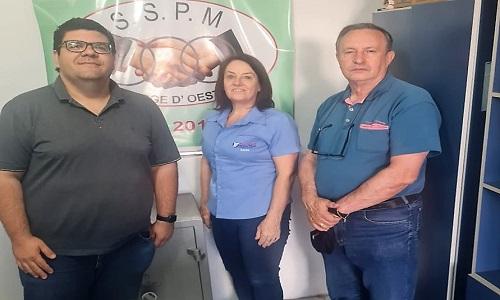 Fesmepar se reúne com presidente do Sindicato de Servidores Municipais de São Jorge D'Oeste