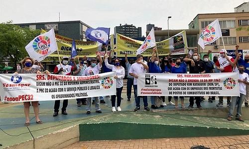 CASCAVEL: Fesmepar participa de ato público contra Medida que autoriza o autoatendimento nos postos de combustíveis