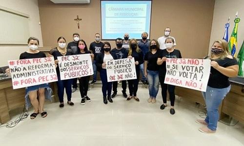 REBOUÇAS: SINDSREB expõe os riscos da Reforma Administrativa e consegue apoio do legislativo municipal